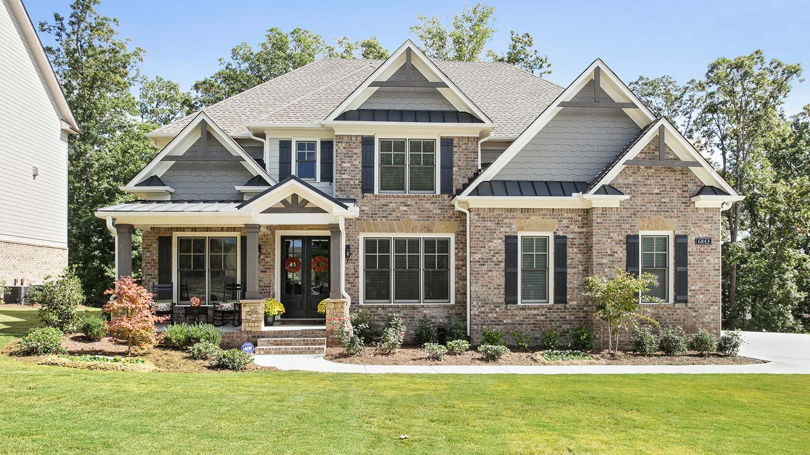 A beautiful home built by Harcrest Homes.