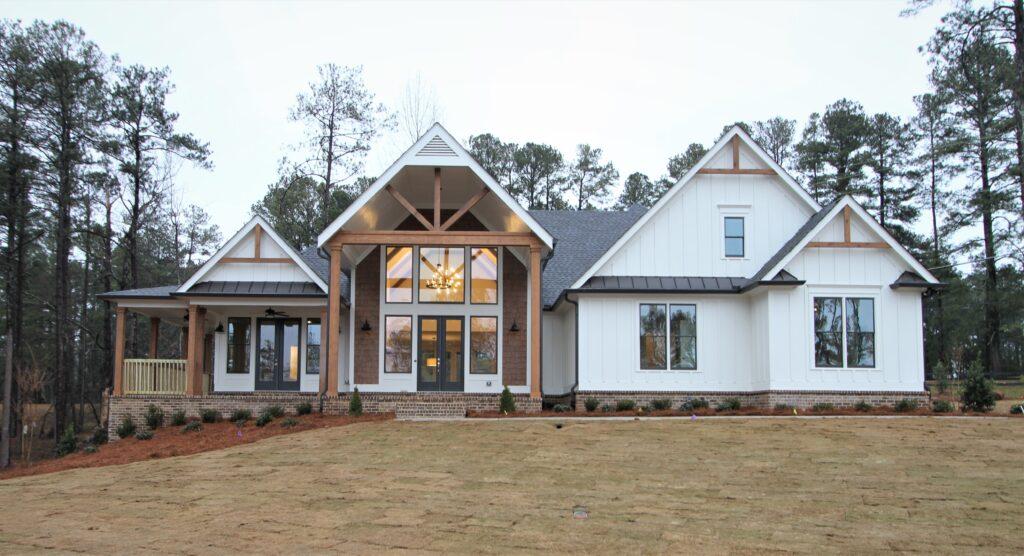 custom homes on the lake